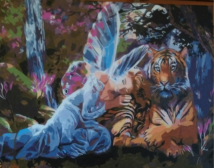 Angel and Tiger by Joan