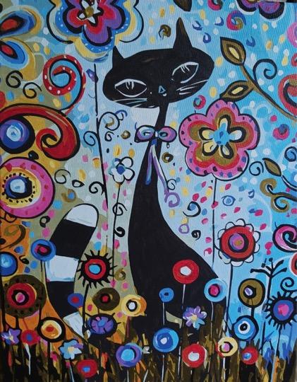 Artistic Cat by Joan M