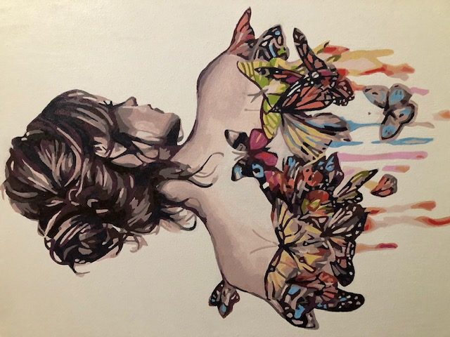 Paint by Numbers - Lady and Butterflies by Chris R