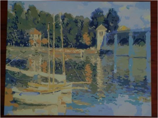Monet Bridge at Argenteuil by Lynda S