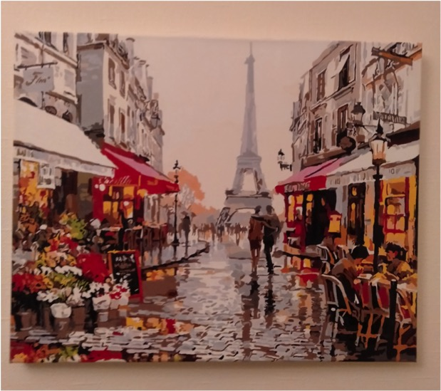 Paint by Numbers - Cafe in Paris by Annelies W