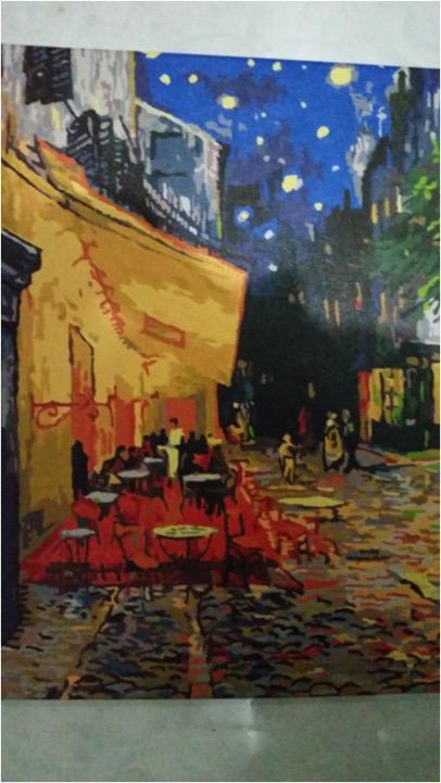 Cafe Terrace at Night by Lynda