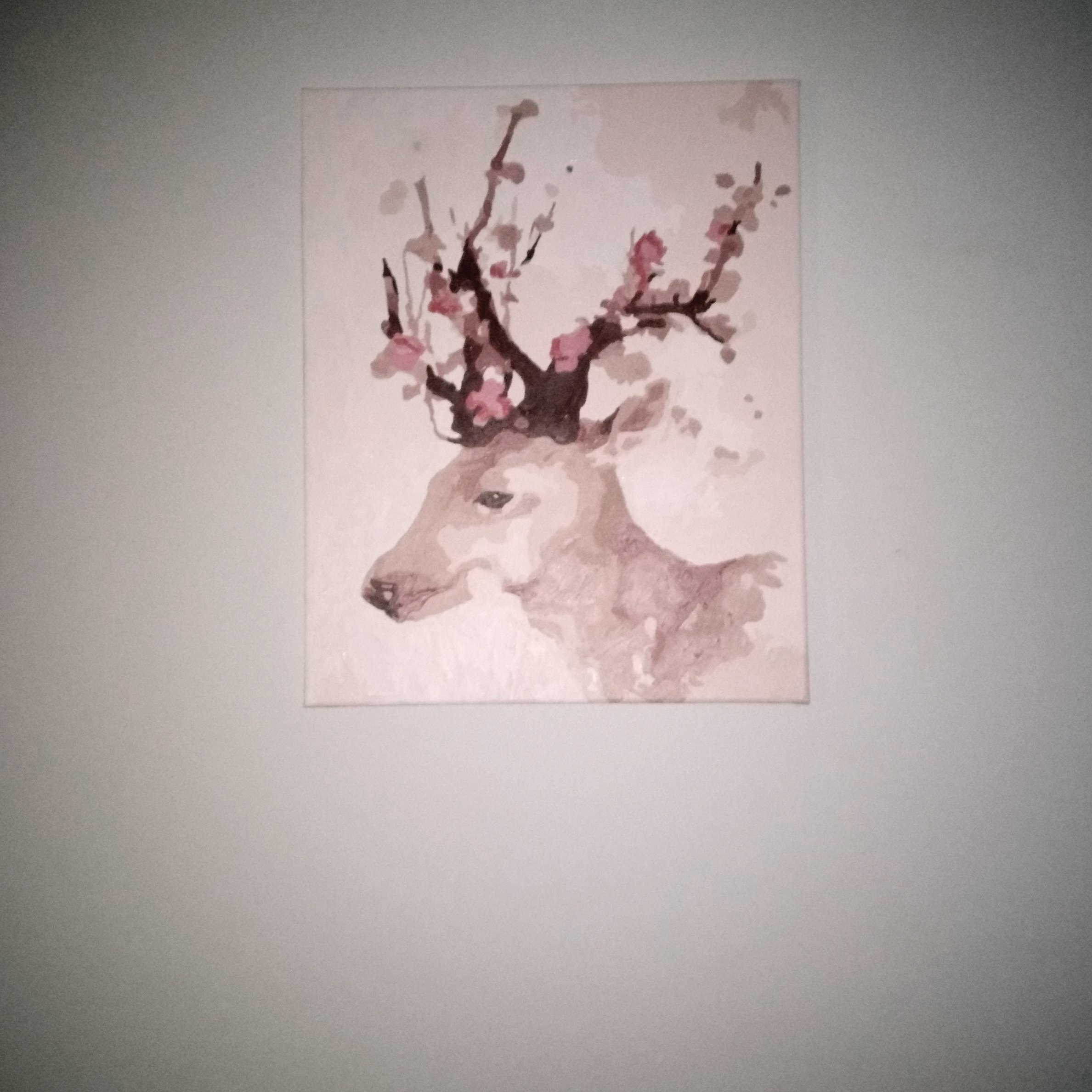 Blossom Cherry Deer by Tascha