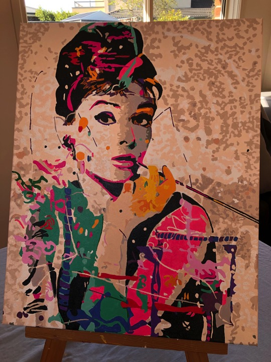 Paint by Numbers - Classic Audrey by Lucy Q