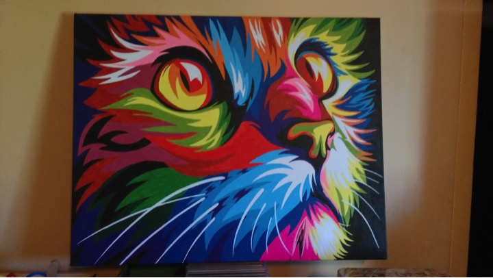 Colourful Cat by Joan