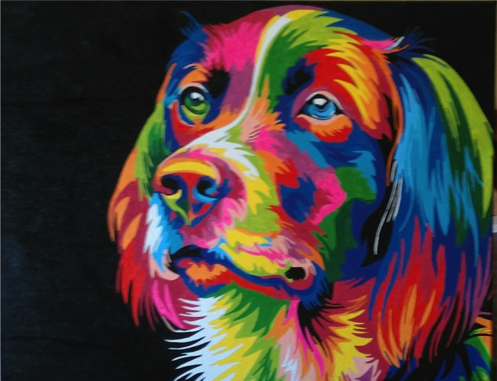 Colourful Dog by Joan