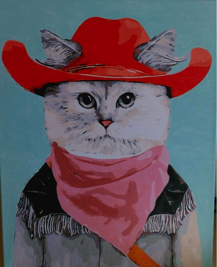 Cowboy Cat by Joan M