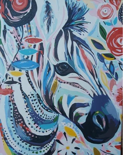 Flower Zebra by Joan