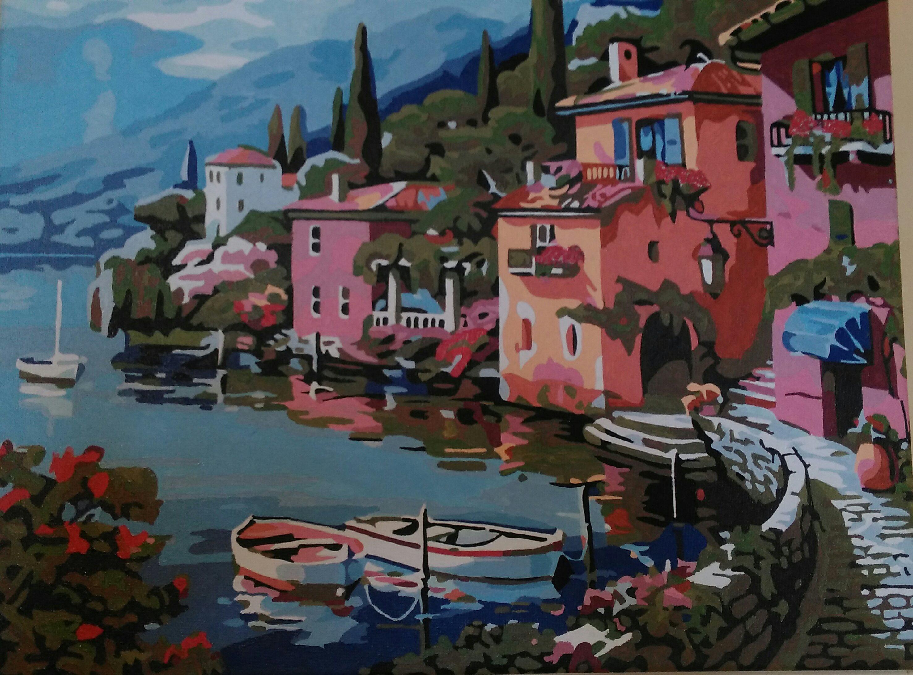 Houses by Riverside by Joan