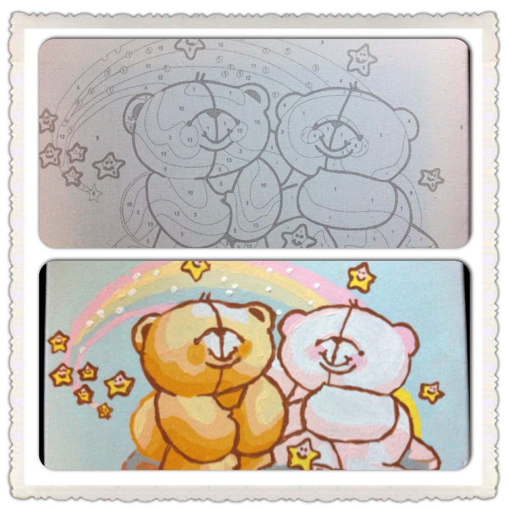 Painting by numbers Friend Forever - Honey Bear
