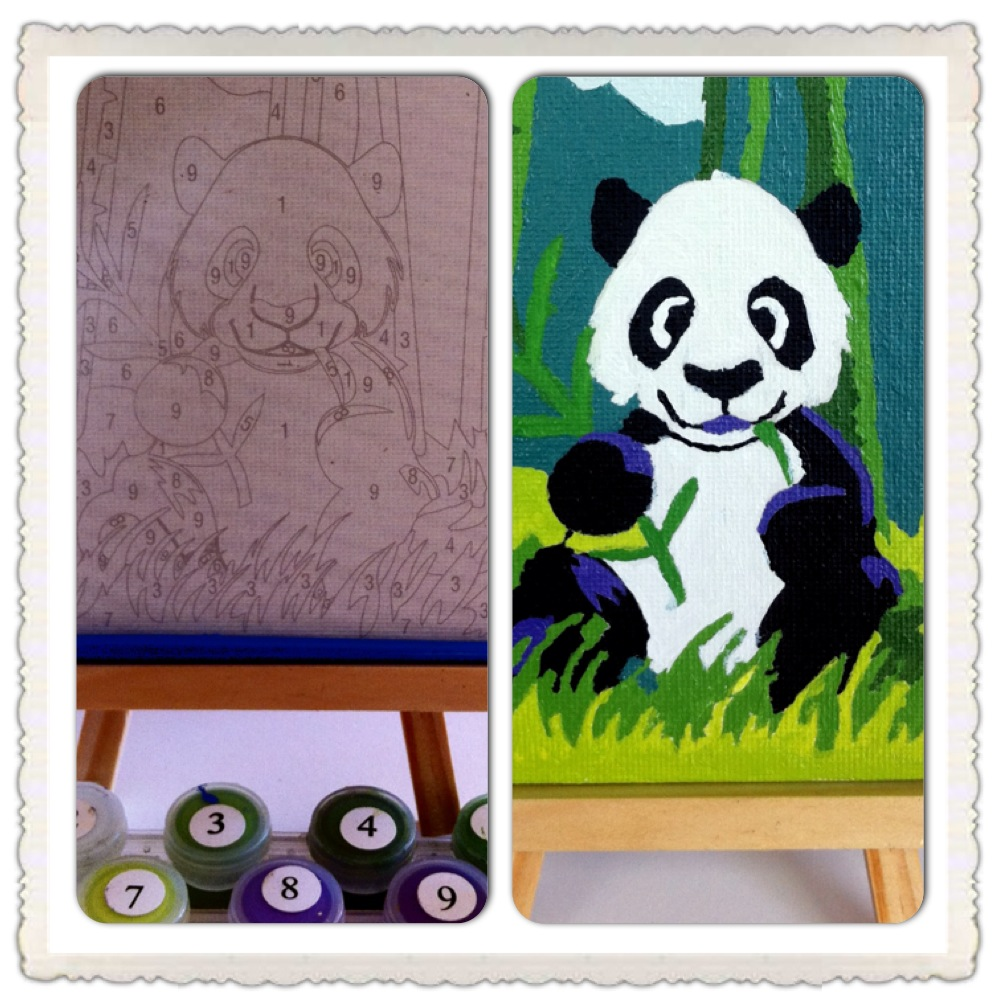 Painting by numbers Panda