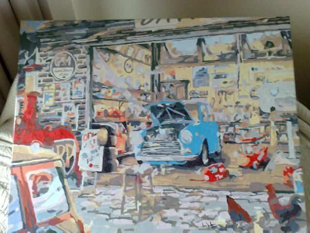 garage 50x65cm by Ian