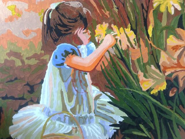 Little Girl in the Garden by Ian