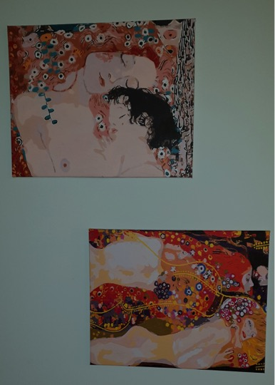 Klimt's Mother and Child and the Serpents by Lynda