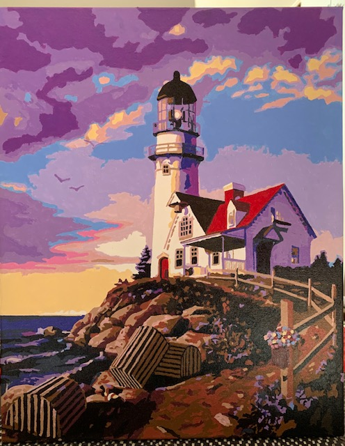 Paint by Numbers - Lighthouse by the sea by Bob McP