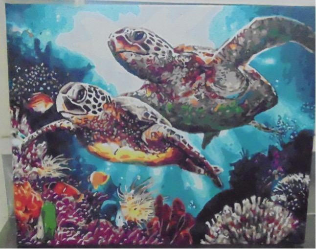Paint by Numbers - Long Life Turtle by Maryanne R