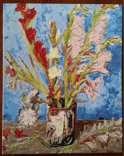Van Gogh Vase with Gladioli by Lynda