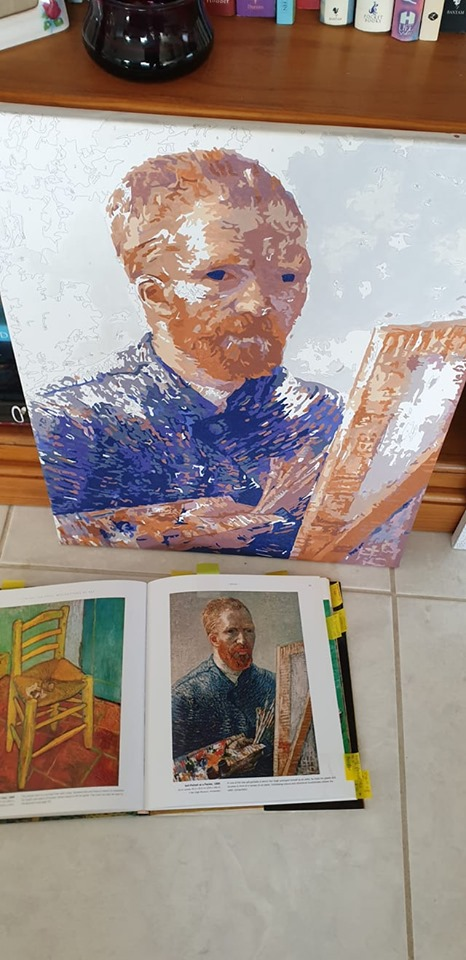 Van Gogh Self Portrait by Lynda S