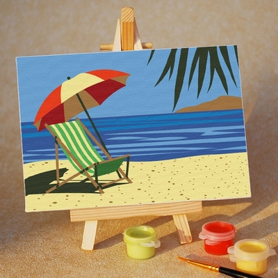 Kids Paint by Numbers Kits - 10x15cm