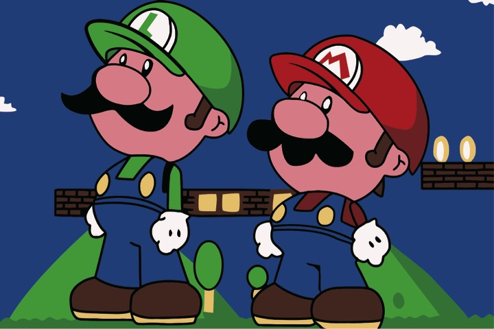 Paint by Numbers Kit - Mario and Luigi