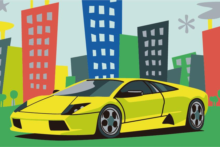 Paint by Numbers Kit - Big Yellow Car