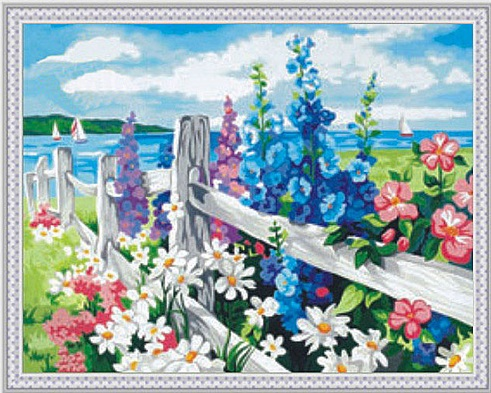Kids Paint by Numbers Kit - Flower Sea