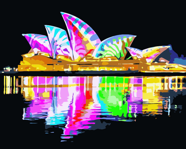 Paint by Numbers - Colourful Opera House