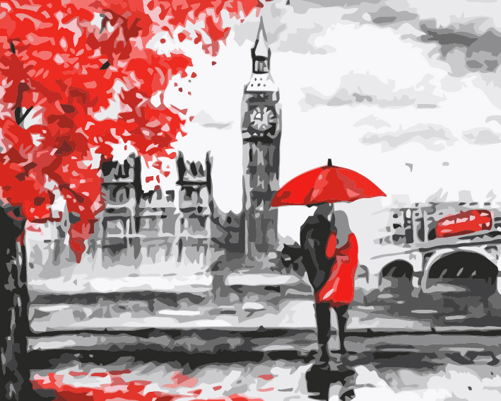 Paint by Numbers Kit - Blossom in London