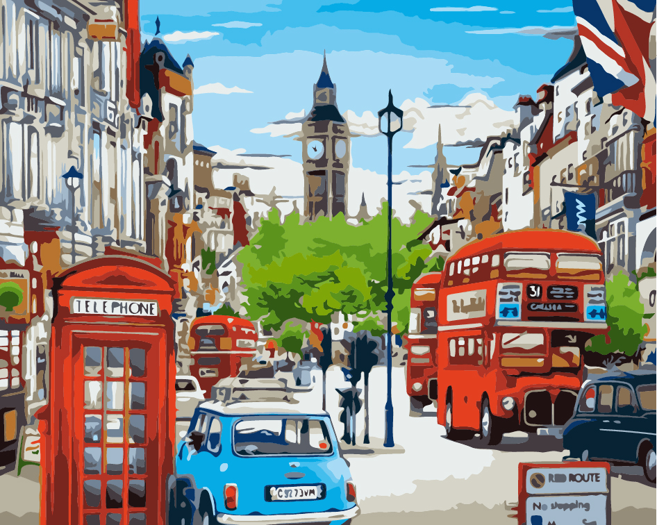 Paint by Numbers - Vibrant London City