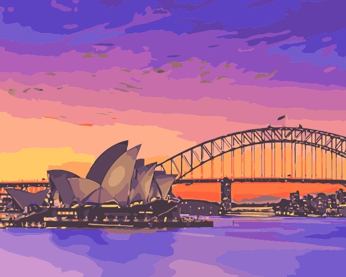 Paint by Numbers - Sunset at Sydney Opera House