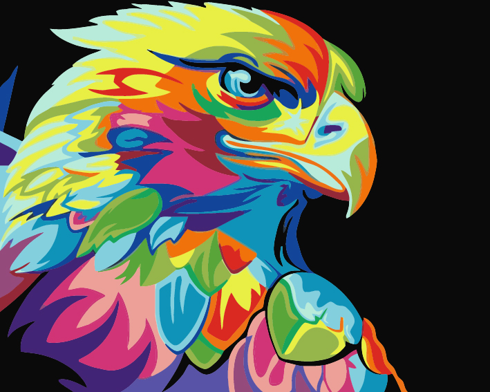 Paint by Numbers - Colourful Eagle
