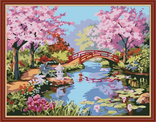Paint by Numbers Kit - Cherry Blossom