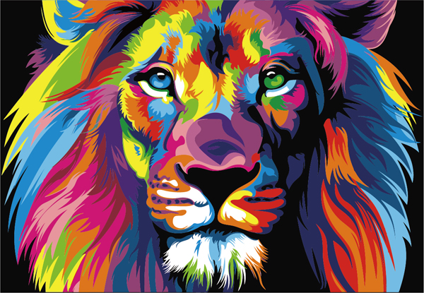 Paint by Numbers Kit - Colourful Lion