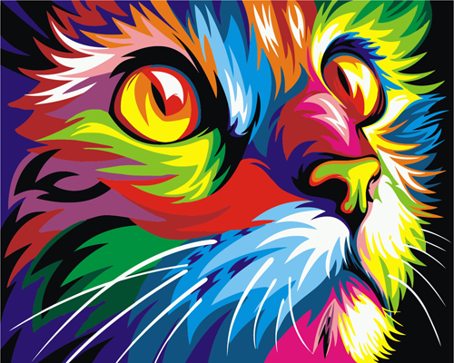 Kids Paint by Numbers Kit - Colourful Cat