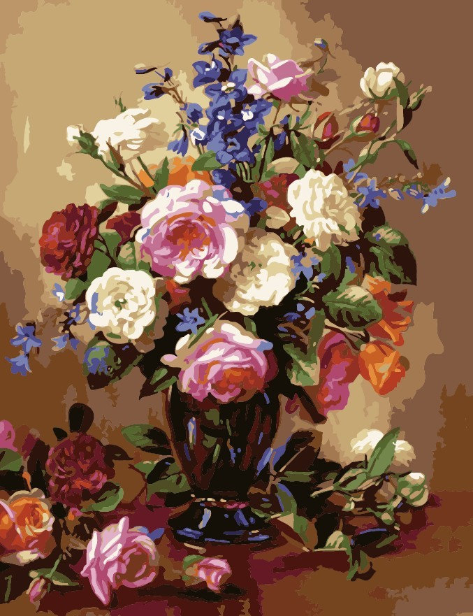 Paint by Numbers Kit - Flowers