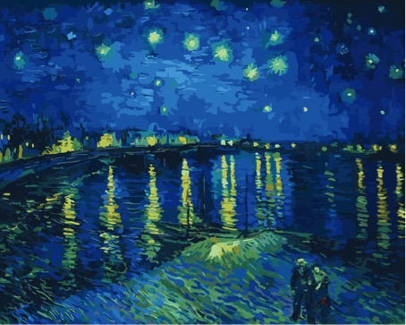Paint by Numbers Kit - Starry Night Over the Rhone by Van Gogh