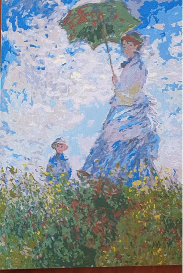 Monet's Woman with a Parasol by Lynda