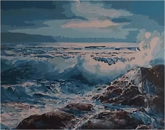 Ocean Waves by Joan M