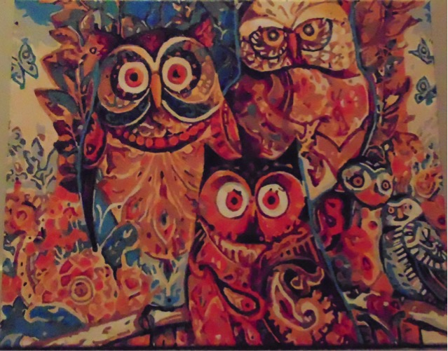 Owl Family by Maryanne R