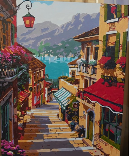 Paint by Numbers - Path to the Riverside by Joan M