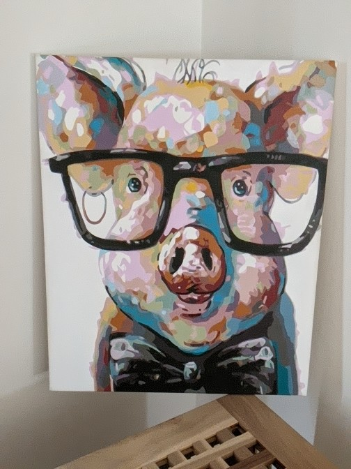 Paint by Numbers - Pig wiht Glasses by Desiree D