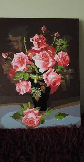Blossom Pink Roses by Thea