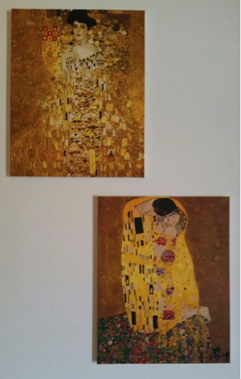 Klimt's Portrait of Adele Bloch-Bauer and The Kiss by Lynda