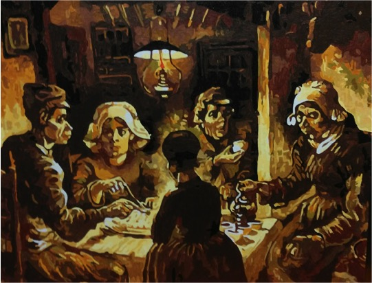 Van Gogh's Potato Eaters by Joan