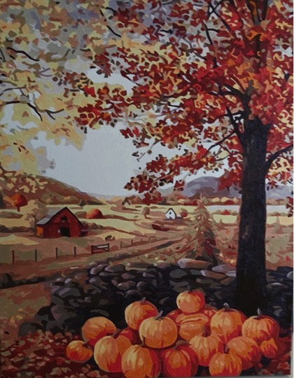 Paint by Numbers - Pumpkins by Joan M