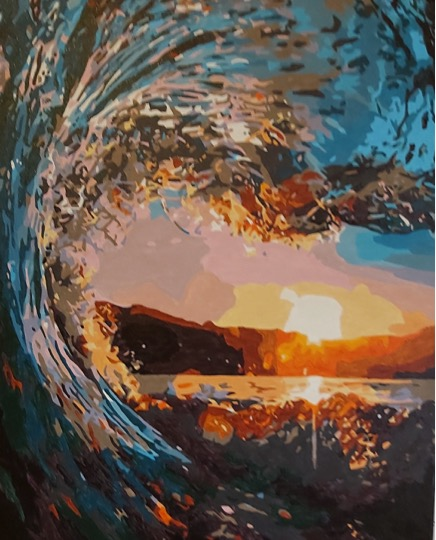 Paint by Numbers - Rising Waves by Joan M