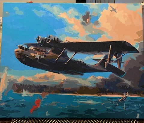 Paint by Numbers - War Plane by Robert McP