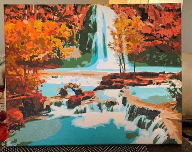 Paint by Numbers - Waterfall by Robert McP