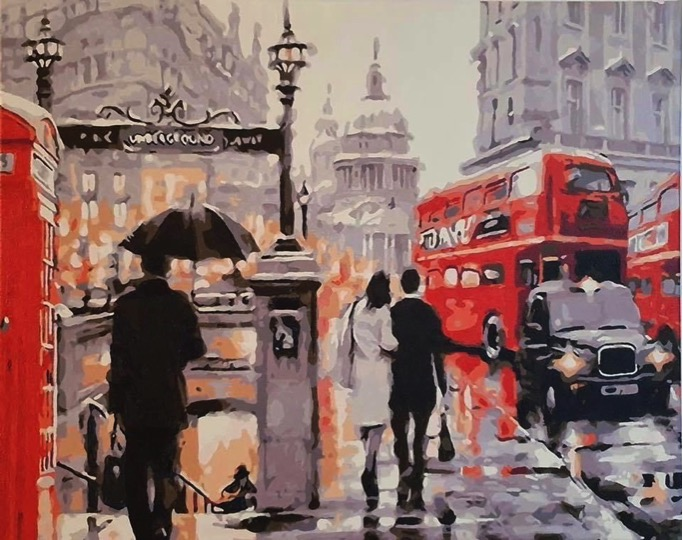 Paint by Numbers - Street in London by Michelle G