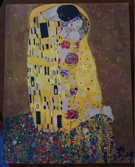 The Kiss by Klimt by Lynda